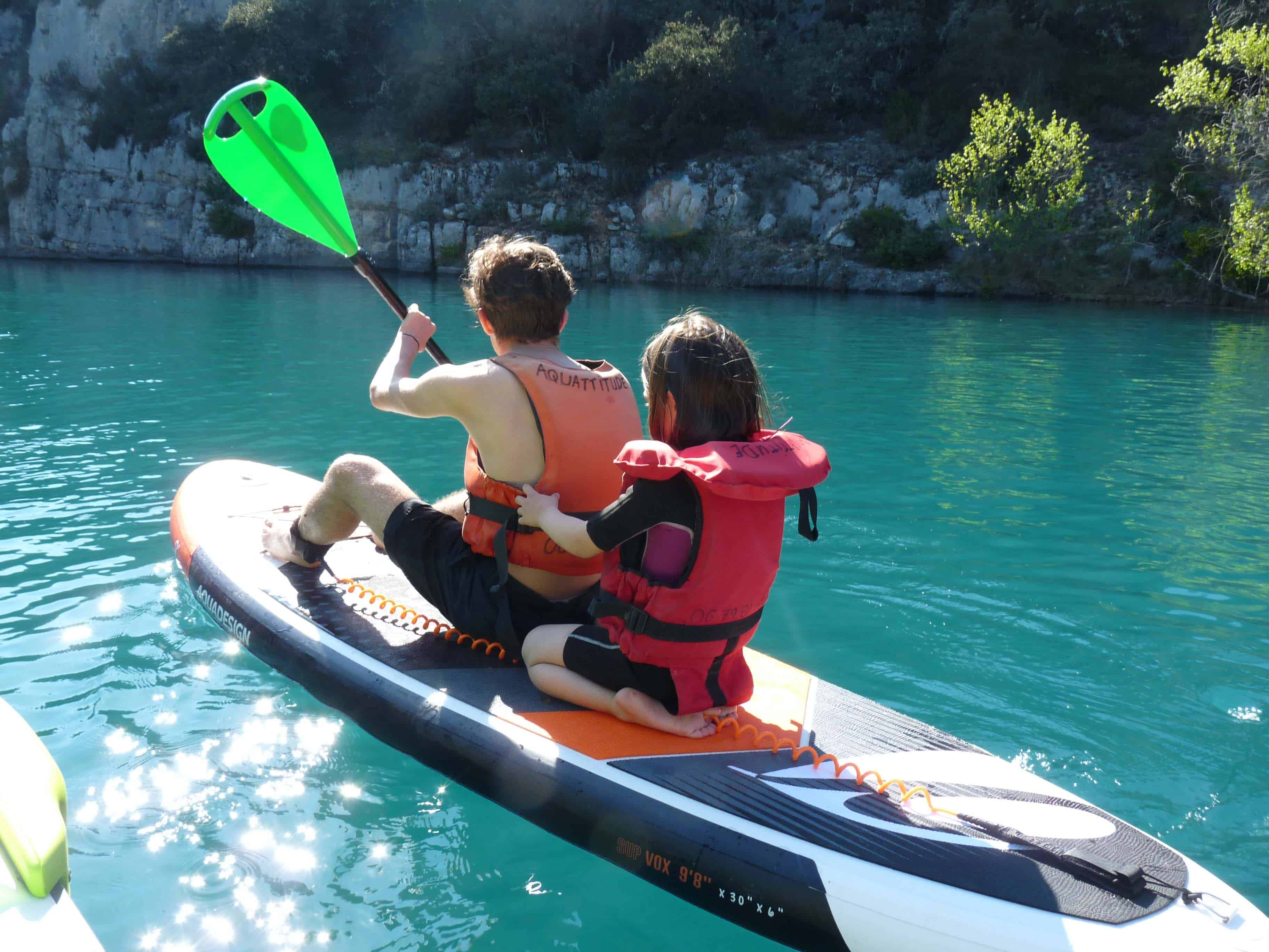 Aquattitude Verdon Canoe Kayak Pedalo paddle ran do VTT