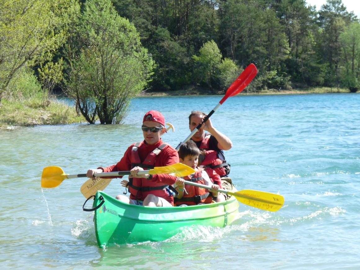 canoe entre copain
