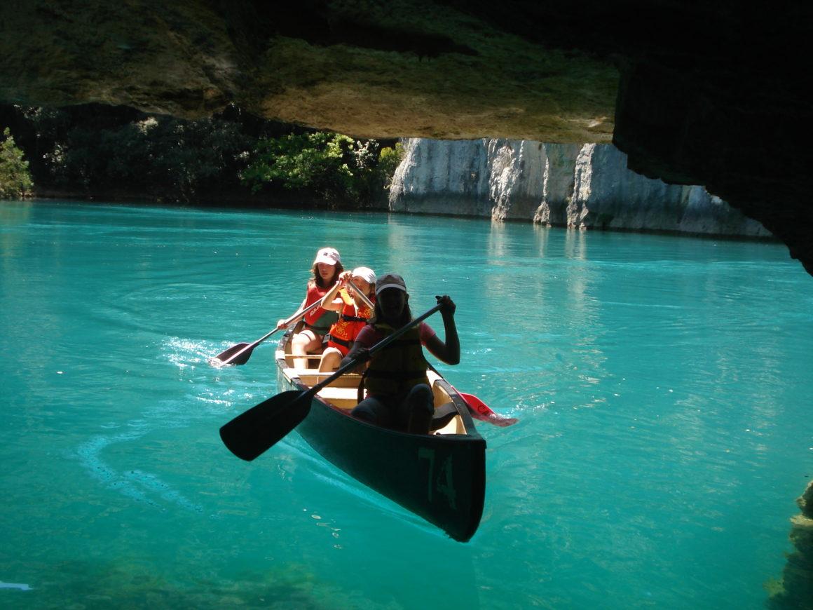 canoe kayak grottes gorges de baudinard