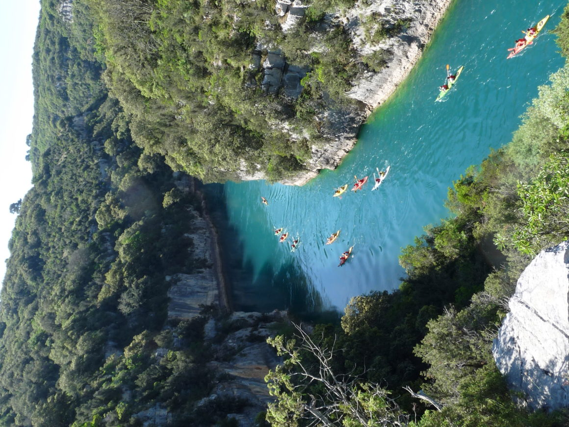 kayak gorges de baudinard en groupe