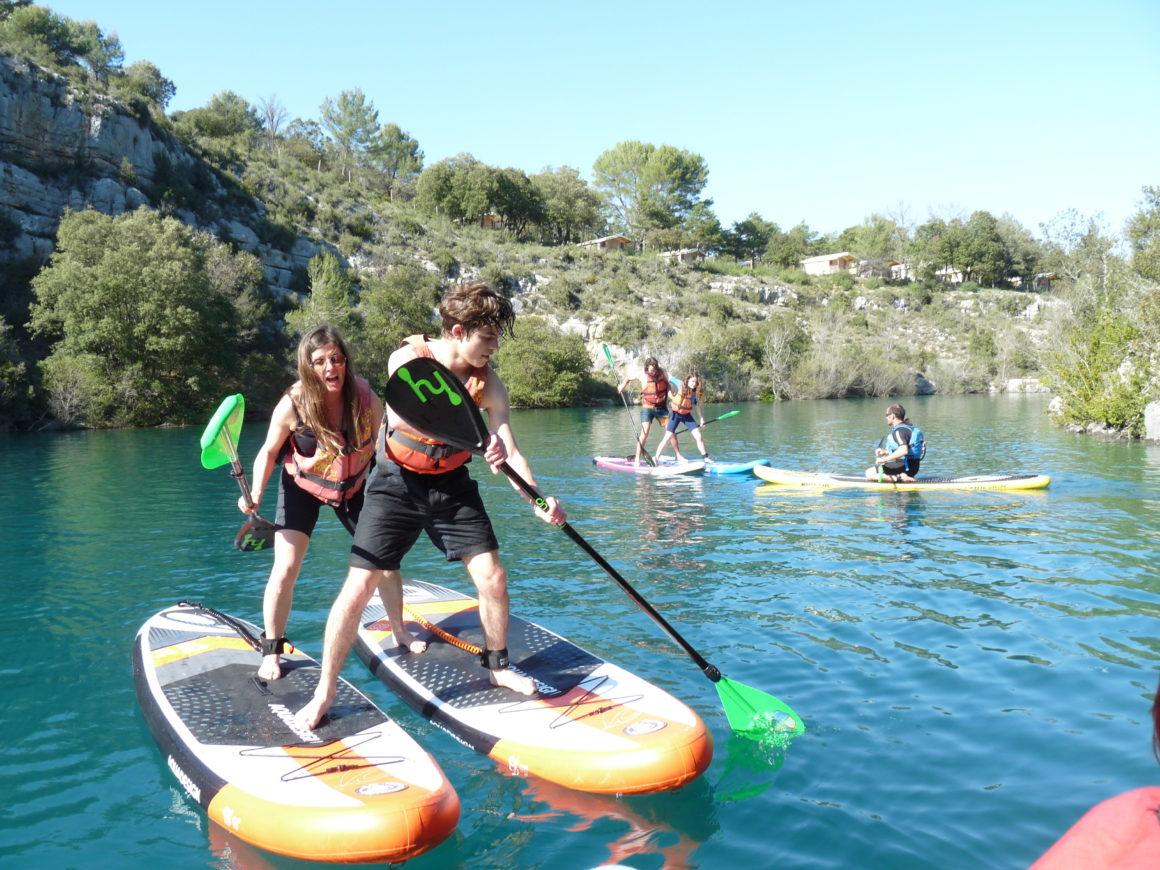 s'amuser en paddle verdon