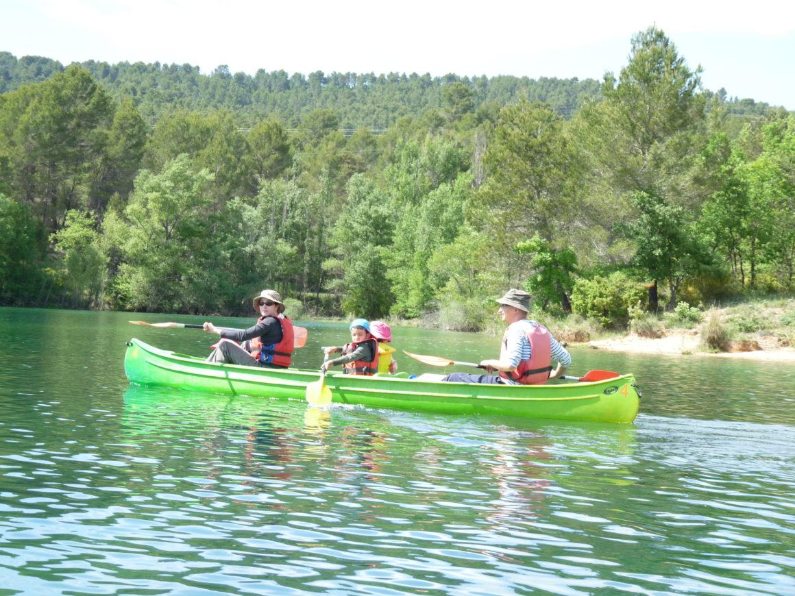 canoe en famille dans le verdon