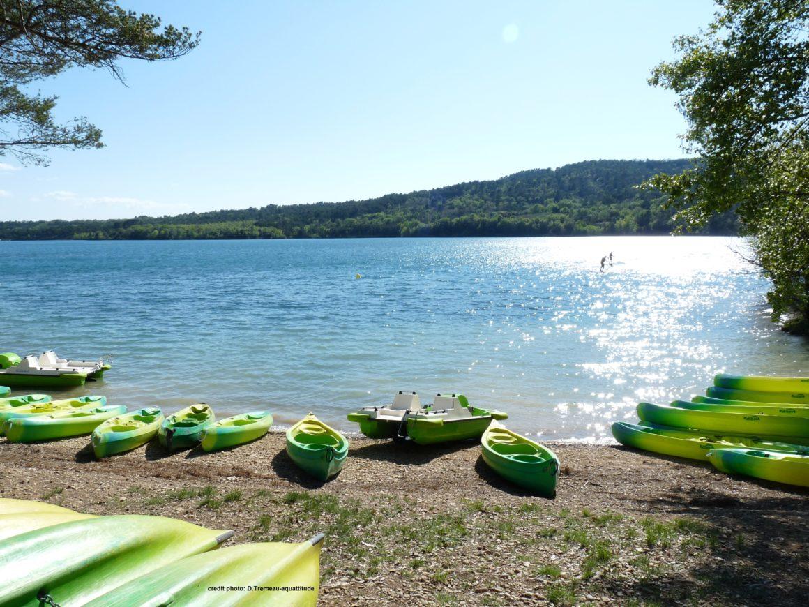 plage du lac du verdon canoe kayak